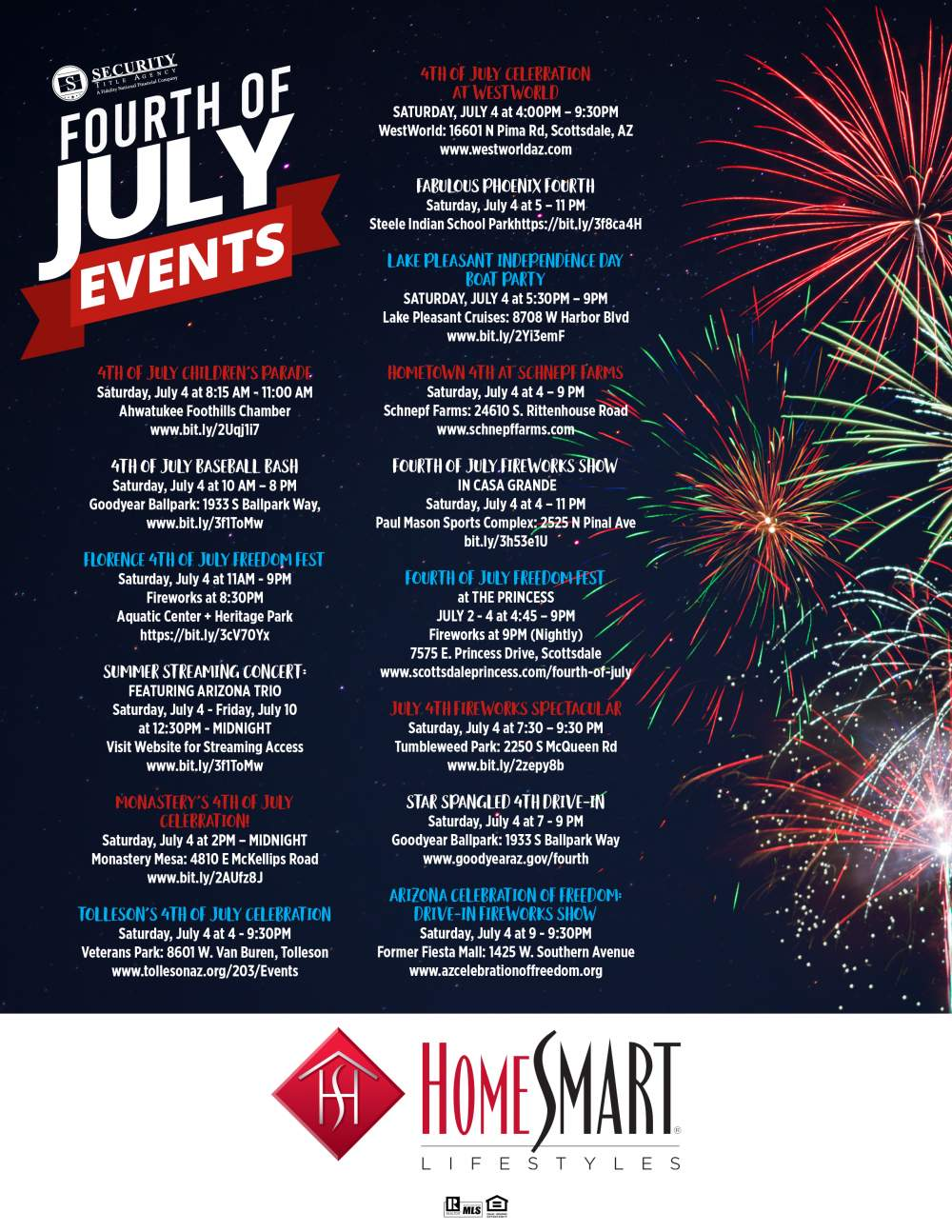 Independence Day Events-Be safe out there.